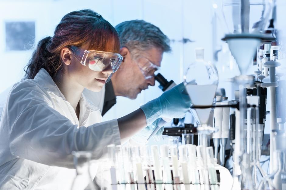 Scientist working on covid-19 testing kits