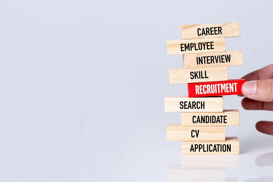 Recruitment jenga blocks