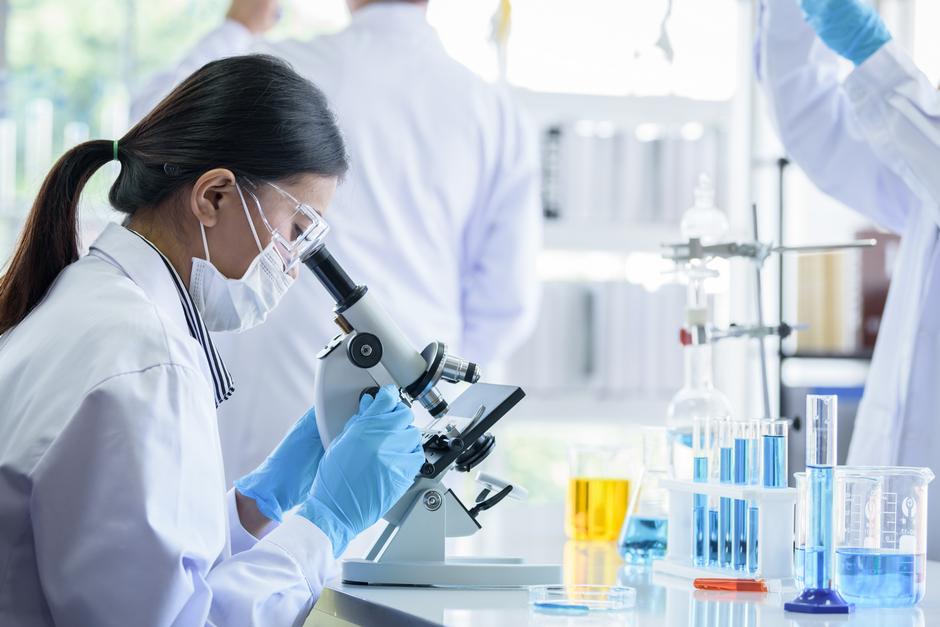 Laboratory worker testing CoronaVirus