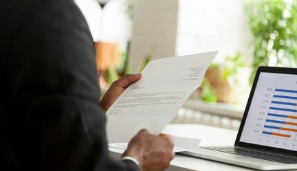 Man reading CV
